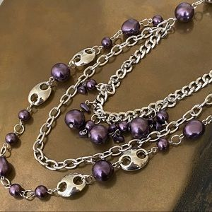 ANTHROPOLOGIE Multi-Chains Statement Necklace NEW!